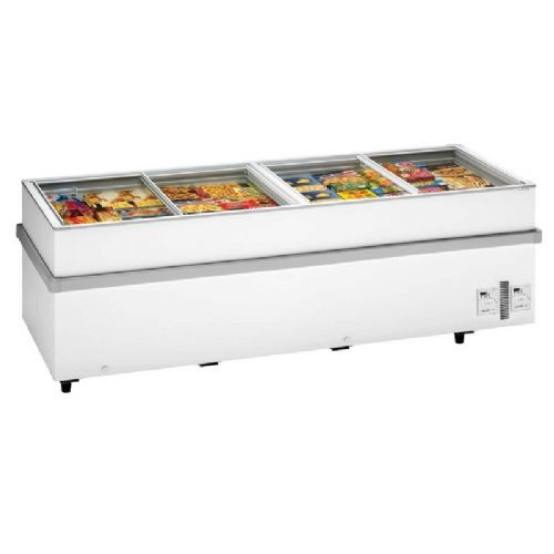 Arcaboa 1100CHV WH Island Site Freezer